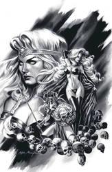 Black and white Lady Death by felipemassafera