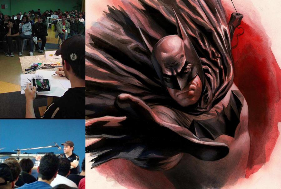 Painting Batman at Fest Comix by felipemassafera