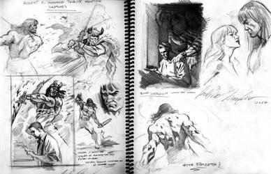 From my sketchbook 3 Conan by felipemassafera
