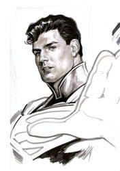 Superman sketch by felipemassafera