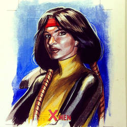 Dani Moonstar sketchcard commission