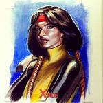 Dani Moonstar sketchcard commission