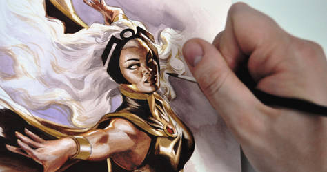 Painting Storm commission by felipemassafera