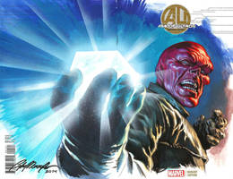 Red Skull sketch cover commission by felipemassafera