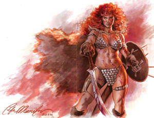 Red Sonja sketch cover