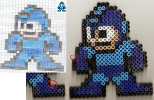 Mega Man Perlerbead Sprite