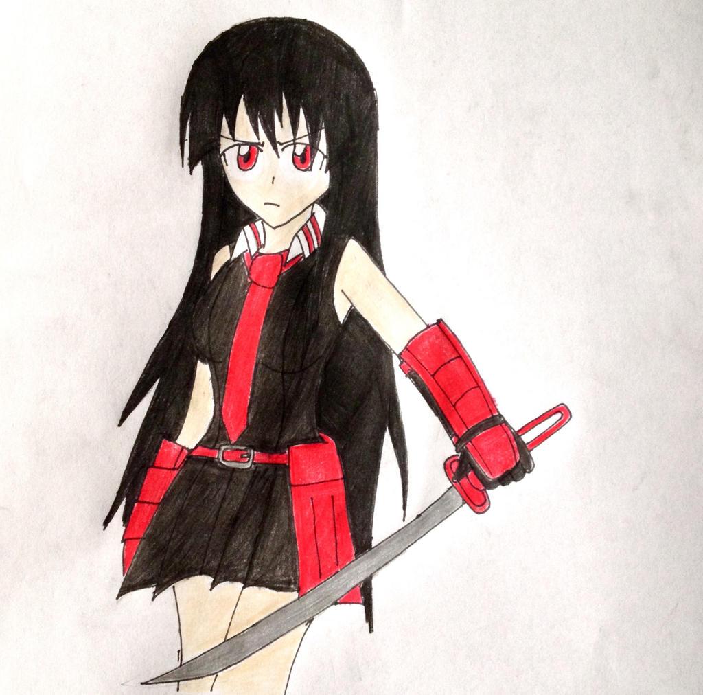 Akame From Akame Ga Kill! by SonicHeroXD