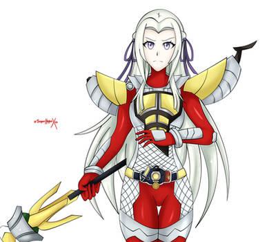 [Commission] Edelgard as Kamen Rider Baron