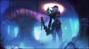 Comm: Night elf Hunter by Echilo