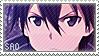 Sword Art Online: Kirito Stamp 2 by NutkaseCreates