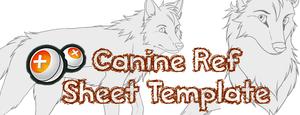 Female/Male Canine Ref Sheet Template