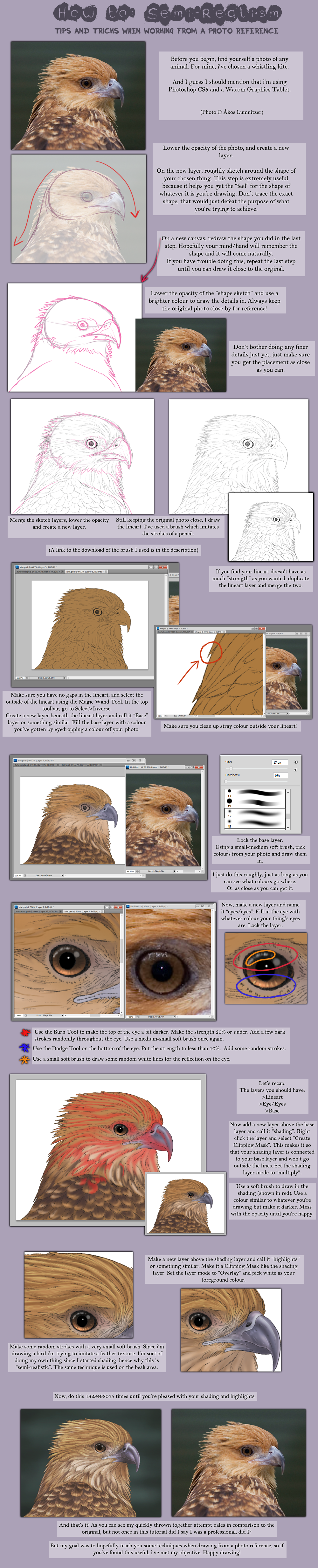 a sort of semi realism tutorial by nutkasecreates on deviantart