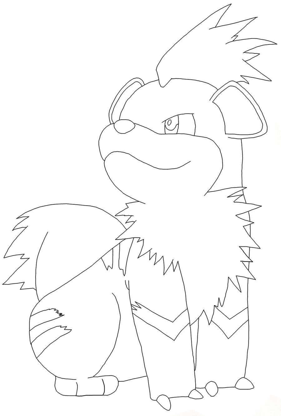 This is a picture of Universal Growlithe Coloring Page