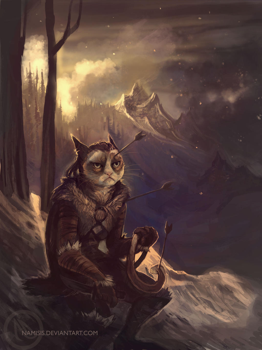 Grumpy cat - new adventures by Namisis