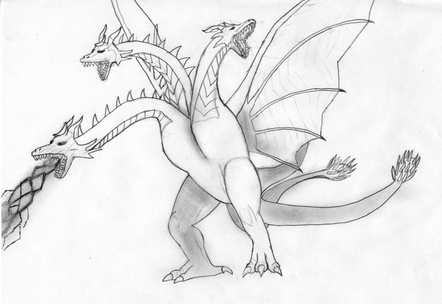 King Ghidorah Sketch by SonicFan1155 on DeviantArt