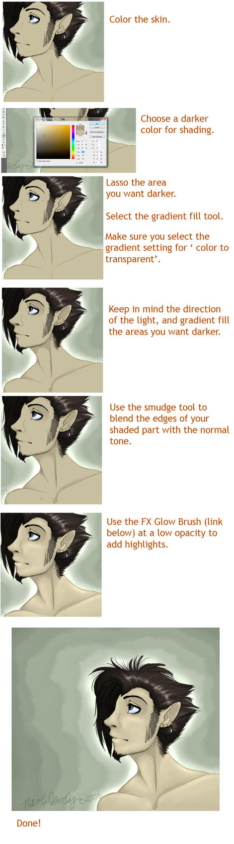 Shading Tutorial by KoiFishSushi