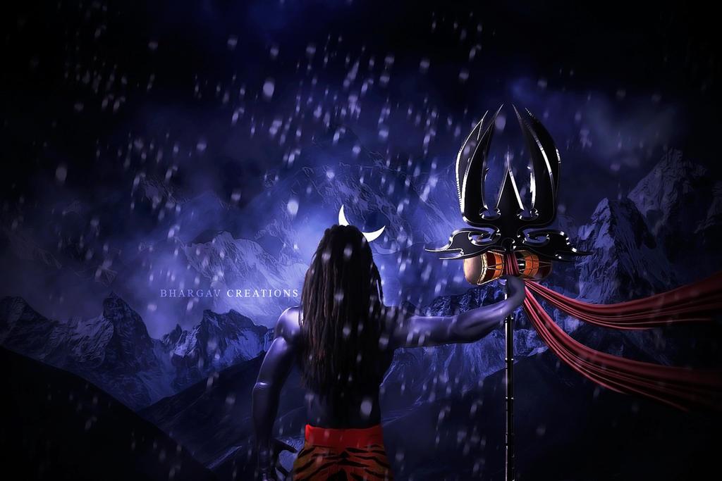 Shiva On Kailash By Bhargav08