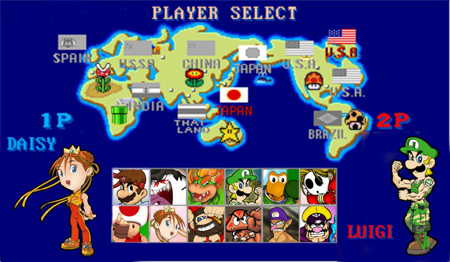 - Select your Character - Street_fighter_mario_player_select_by_mightymusc-d4vu5t5