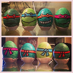 Teenage Mutant Ninja Turtle Easter Eggs by MightyMusc