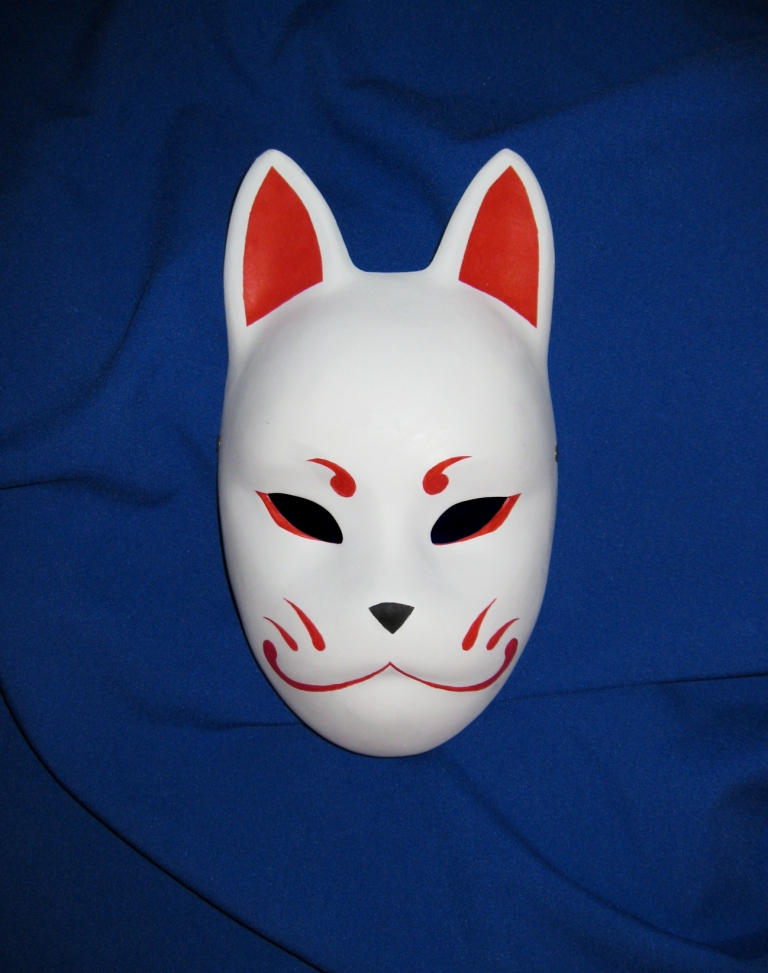 kabuki mask template - kitsune mask