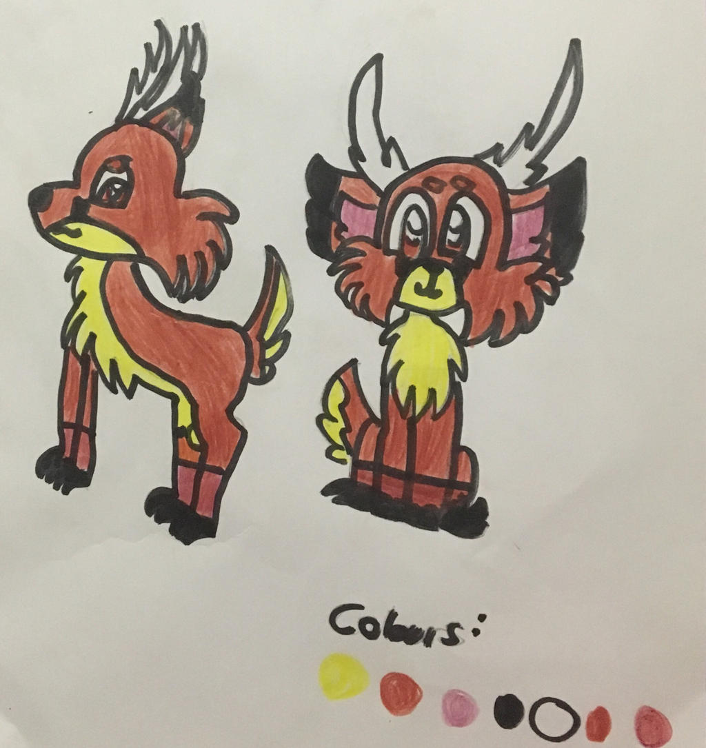 Ref Sheet for Wolf (Skully) by GameyGemi
