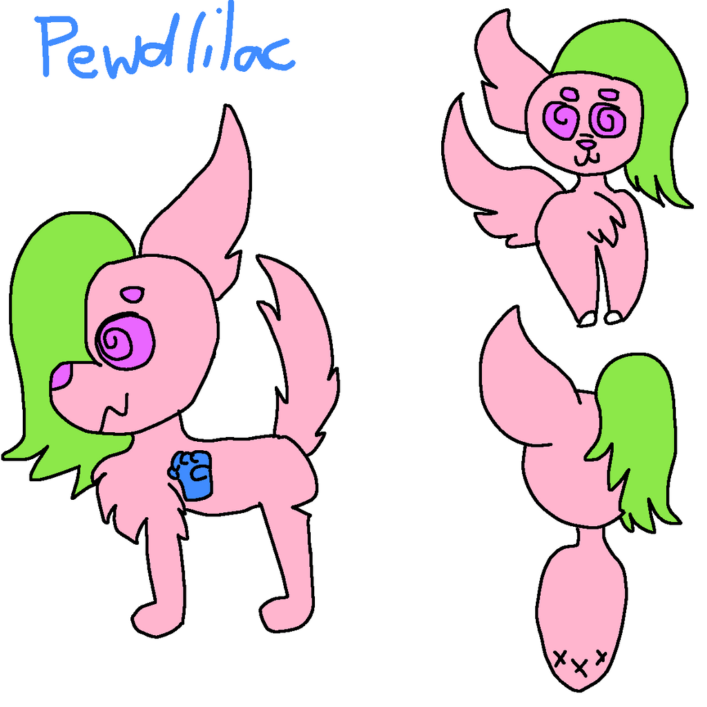 Pewdlilac Ref by GameyGemi