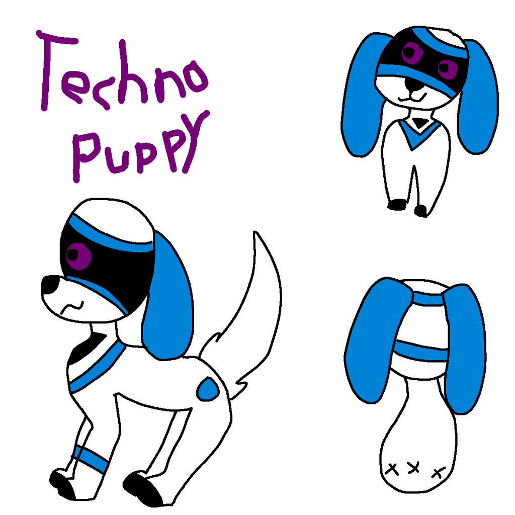 Techno Puppy Ref by GameyGemi