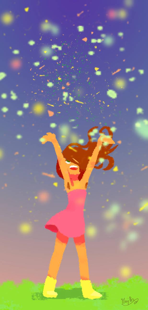 Joie et confetti !