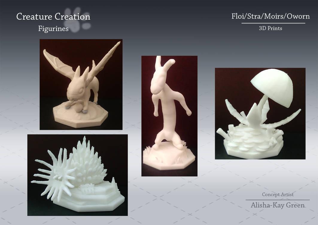 Creature Figurine 3D Prints by TevaArt on DeviantArt