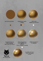 Study - Metal Gold by TevaArt