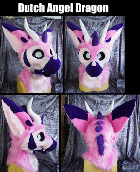 Dutch angel dragon fursuit head