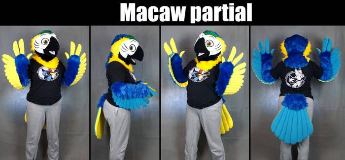 Macaw Mini Partial Fursuit
