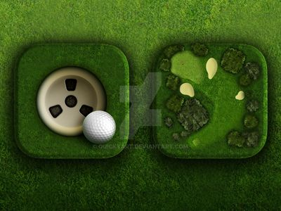 Golf app icons by quickyart