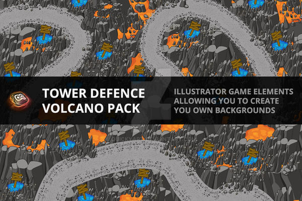 Tower Defence - Volcano Pack by quickyart