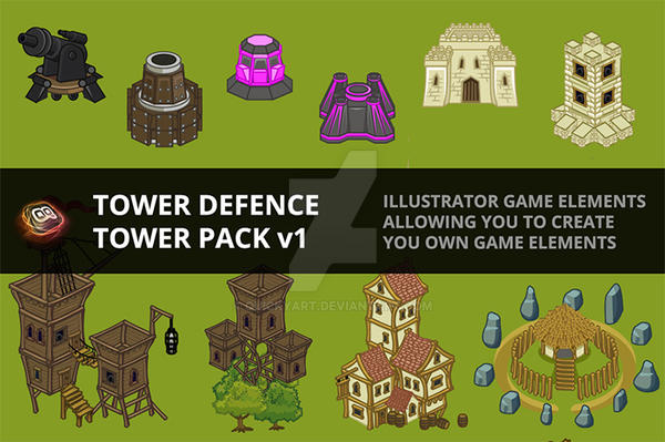 Tower Defence - Tower Pack by quickyart
