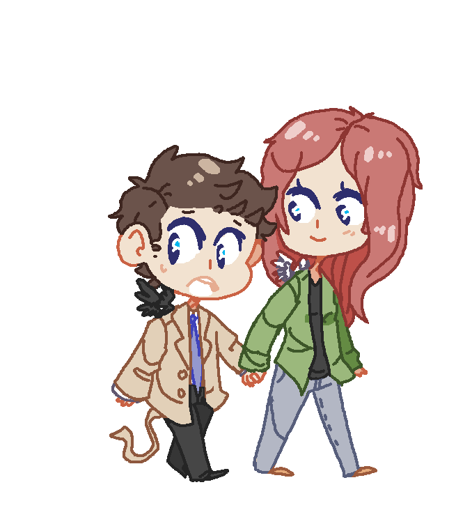 cas and anna by BlueMagnet