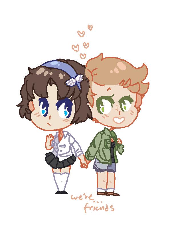 we're friends by BlueMagnet