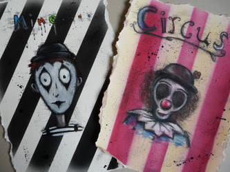 Clown and the Mime by AshBob87