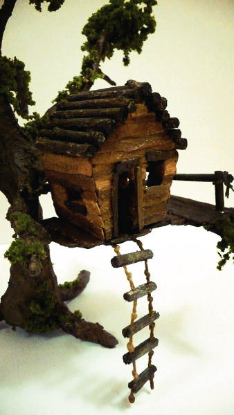 Treehouse model close up