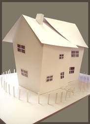 Crooked House model side view
