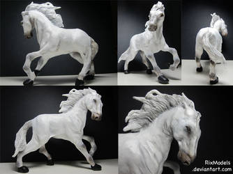 Roman chariot horse: Detail by RixModels