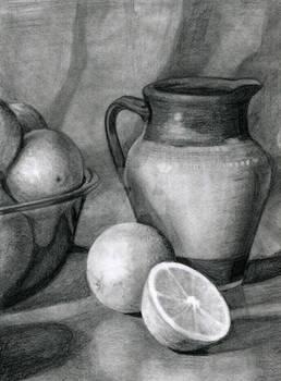 Fruit And Vase