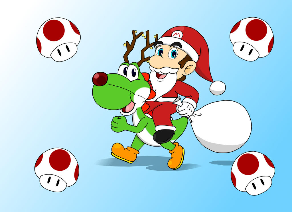 Santa Mario by Retro-Eternity