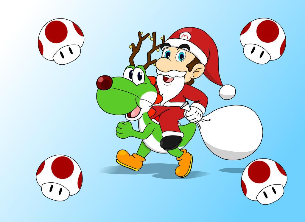 Santa Mario by Retro-Eternity