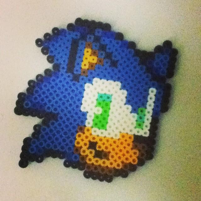 Perler bead: Sonic by Retro-Eternity