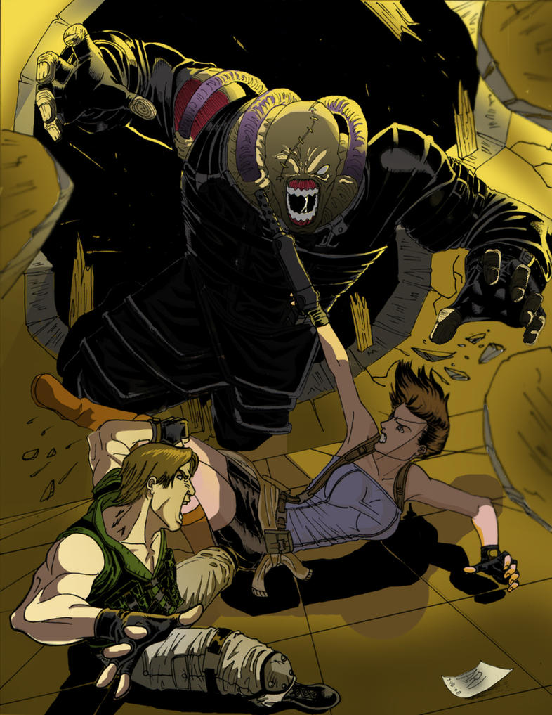 Resident Evil Panel 5 Colored by Ari-Spike-Nadelman
