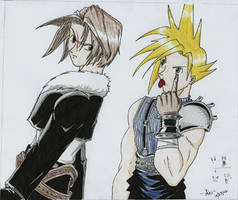 Squall and Cloud