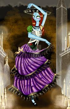 Sally On Dia De Los Muertos