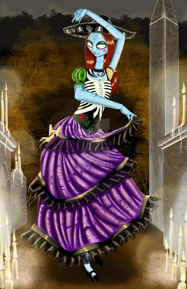 Sally On Dia De Los Muertos by Ari-Spike-Nadelman