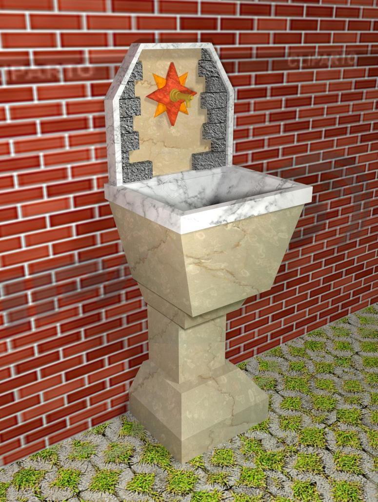 Lovely Italian fountain1 by StrangeSamuArt